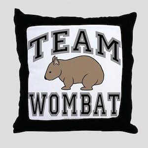 Team Wombat V Throw Pillow