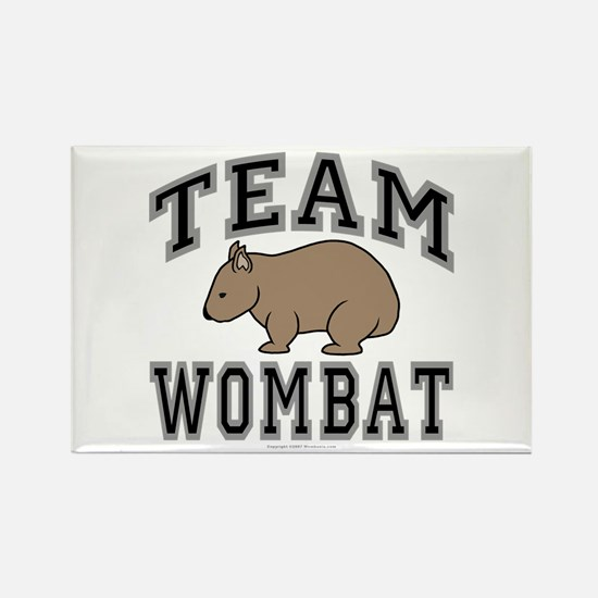 Team Wombat V Rectangle Refrigerator Magnet