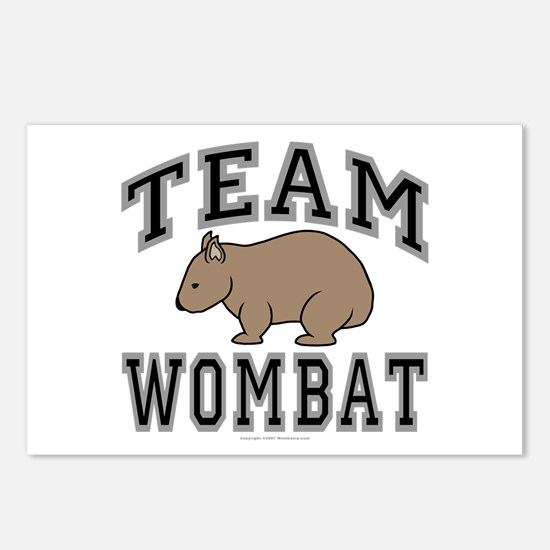 Team Wombat V Postcards (Package of 8)