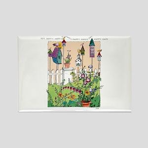 Cynthia Bainton Bird House Garden Magnets