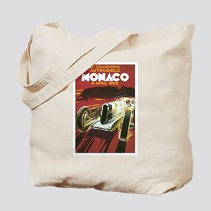 Monaco Race Car Tote Bag