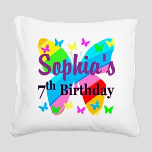 HAPPY 7TH Square Canvas Pillow