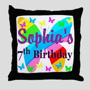 HAPPY 7TH Throw Pillow