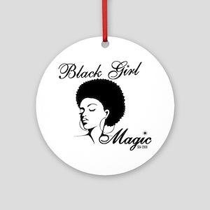 Black Girl Magic Round Ornament