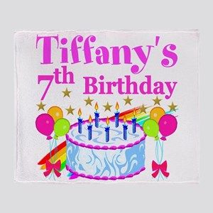HAPPY 7TH Throw Blanket
