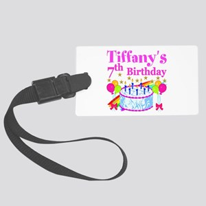 HAPPY 7TH Large Luggage Tag