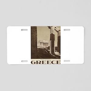 Vintage poster - Greece Aluminum License Plate