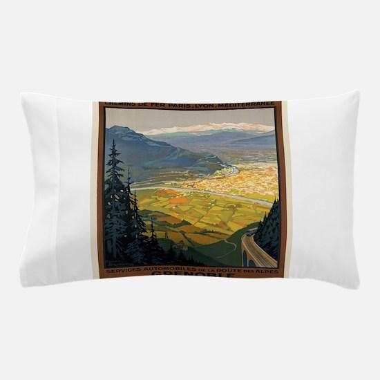 Vintage poster - Grenoble Pillow Case