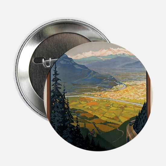 "Vintage poster - Grenoble 2.25"" Button"