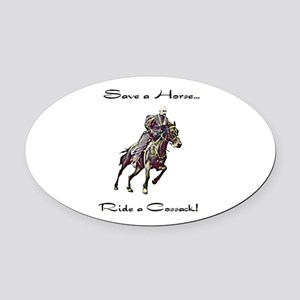 Oval Car Magnet Cossack