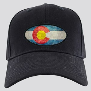(B) Colorado State Flag Black Cap