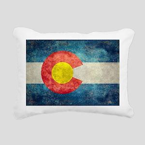 (B) Colorado State Flag Rectangular Canvas Pillow