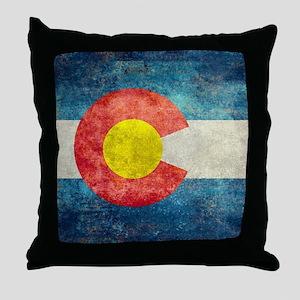 (B) Colorado State Flag Throw Pillow