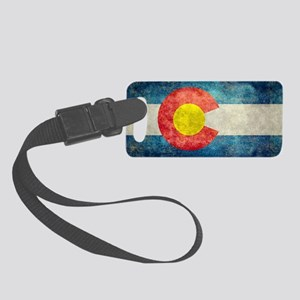 (B) Colorado State Flag Small Luggage Tag