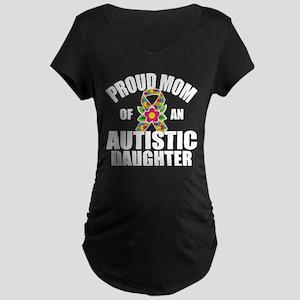 Autism Mom Maternity Dark T-Shirt
