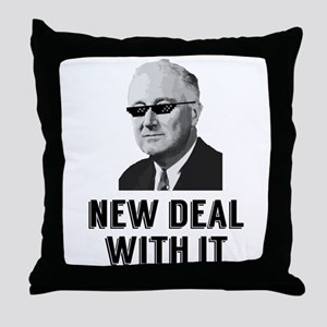 New Deal With It Throw Pillow