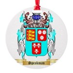 Speakman Round Ornament