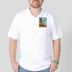 Vintage poster - New Zealand Golf Shirt