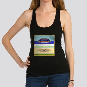 Meanwhile, at the Beach Racerback Tank Top