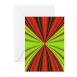 Red Drapery Fractal Greeting Cards (Pk of 10)