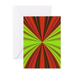 Red Drapery Fractal Greeting Card