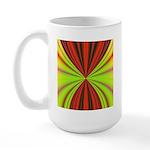 Red Drapery Fractal Large Mug