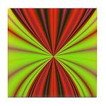 Red Drapery Fractal Tile Coaster