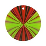 Red Drapery Fractal Ornament (Round)