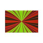 Red Drapery Fractal Rectangle Magnet