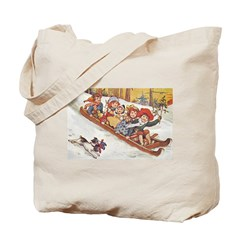 1890's Sledding Tote Bag