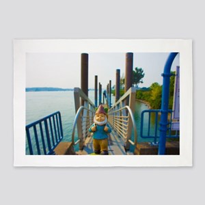 Pier Gnome 5'x7'Area Rug