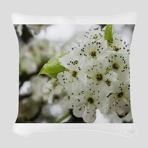 Speckled Sakura Woven Throw Pillow