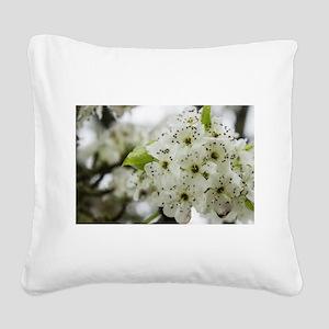 Speckled Sakura Square Canvas Pillow
