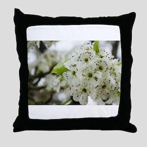 Speckled Sakura Throw Pillow