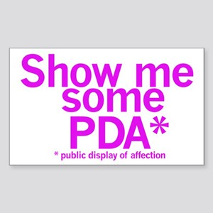 Show PDA Rectangle Sticker