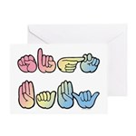 Sign Baby Greeting Card
