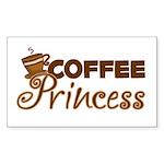 Coffee Princess Rectangle Sticker