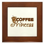 Coffee Princess Framed Tile