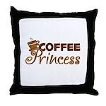 Coffee Princess Throw Pillow