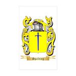 Spalding Sticker (Rectangle 10 pk)