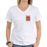 Spaducci Women's V-Neck T-Shirt