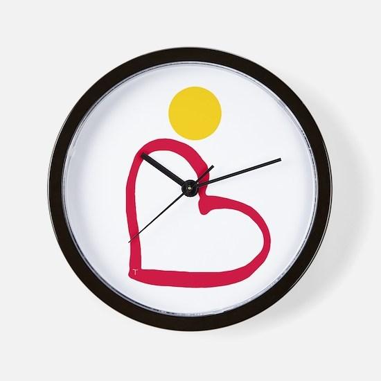 Saffron Revolution Wall Clock