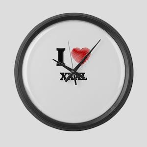 I love Xxxl Large Wall Clock