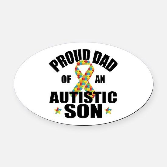 Autism Dad Oval Car Magnet