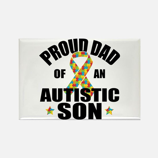 Autism Dad Rectangle Magnet