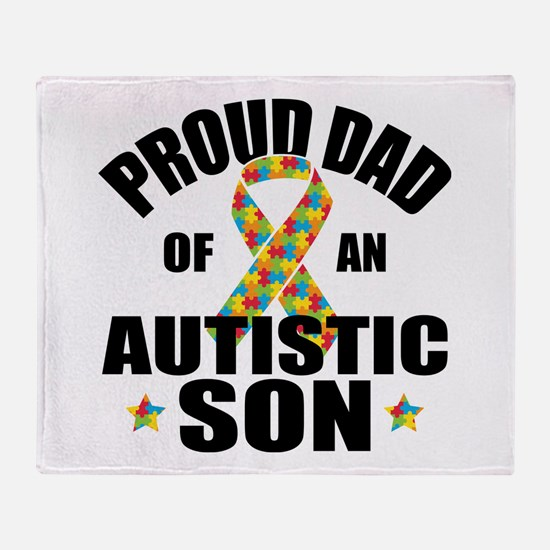 Autism Dad Throw Blanket