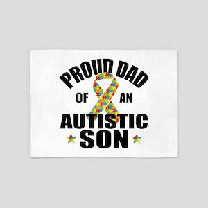 Autism Dad 5'x7'Area Rug