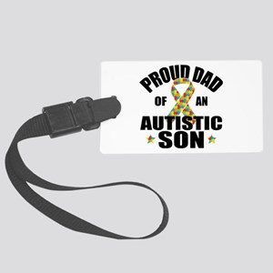 Autism Dad Large Luggage Tag