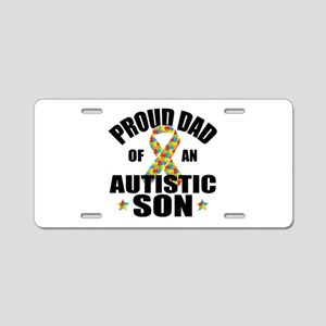 Autism Dad Aluminum License Plate