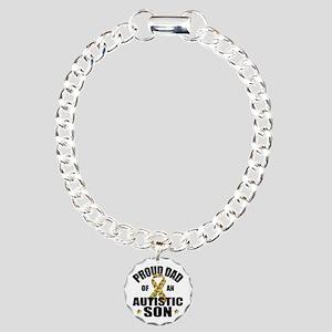 Autism Dad Charm Bracelet, One Charm